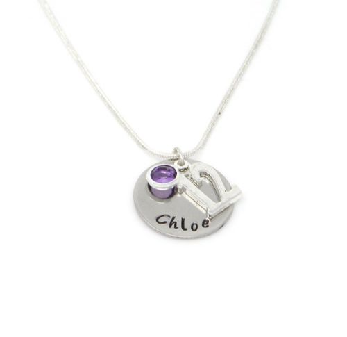 Personalised 12th Birthday Birthstone Necklace - Gift Boxed & Free Delivery UK